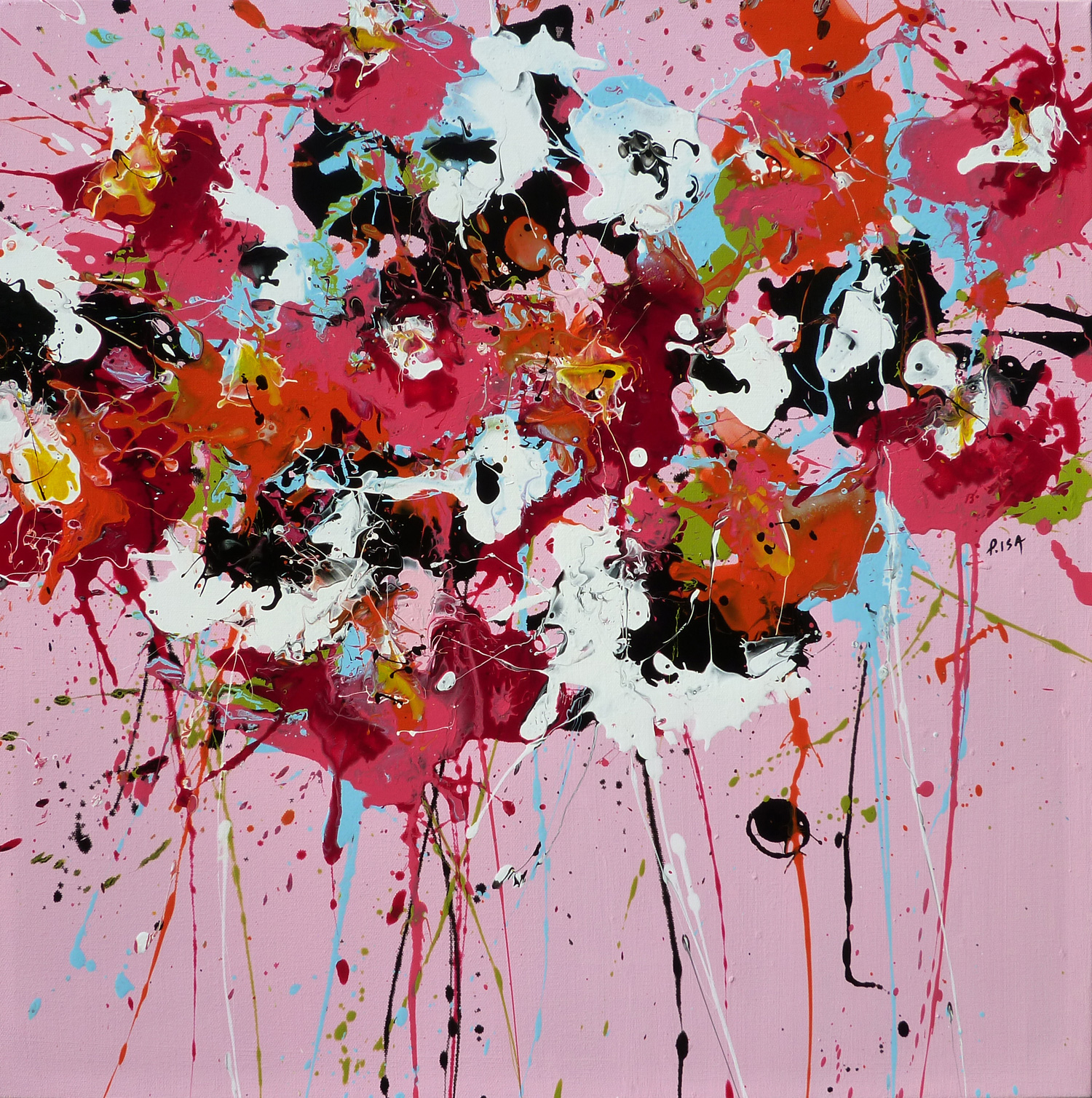 Pink Posy 60×60 cm – SOLD