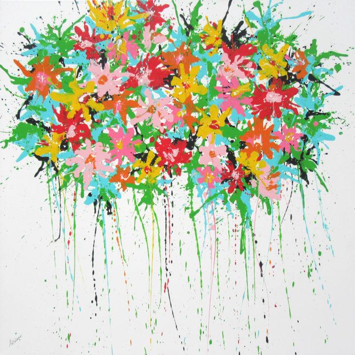 Summer Bloom 100×100 cm