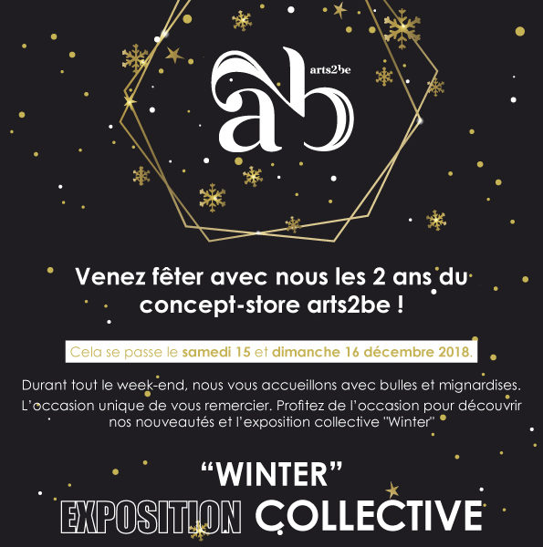 """Winter"" Group exhibition, Arts2be Gallery – WAVRE (BE)"