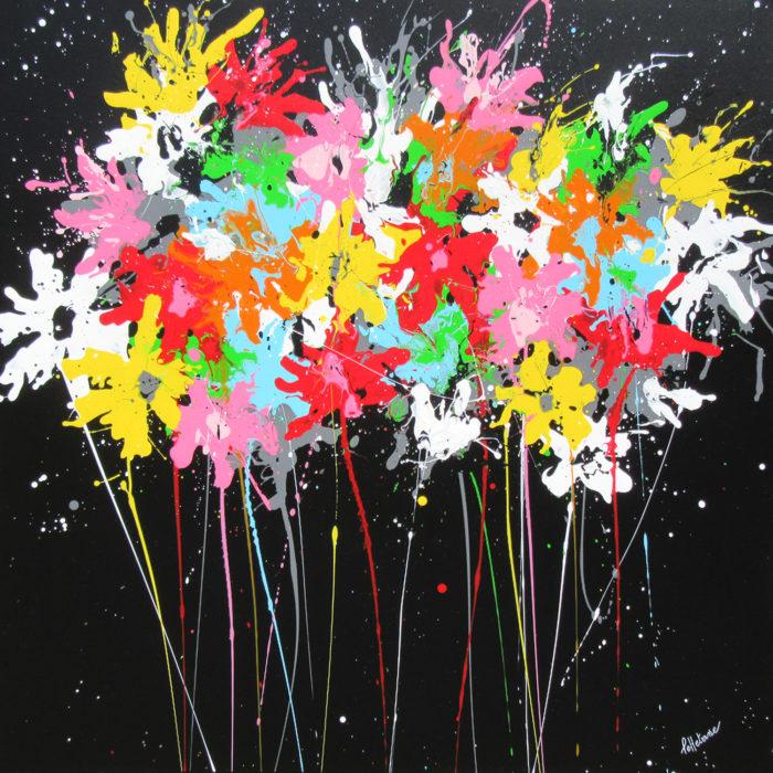 Night Poppy 2 80×80 cm