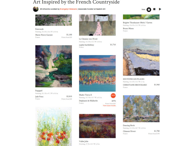 "In the Saatchi Art COLLECTION : """"Art inspired by the french countryside"" (USA)"