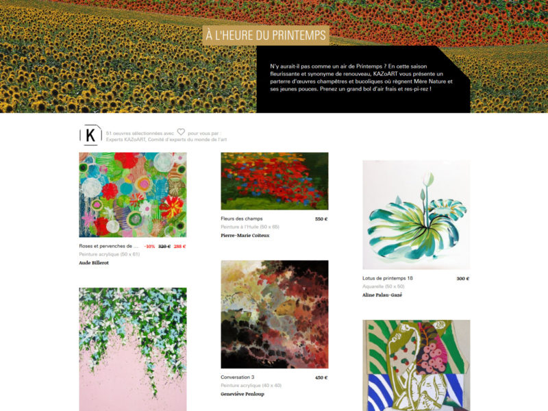 "In the Kazoart COLLECTION : ""A l'heure du printemps"" (FR)"