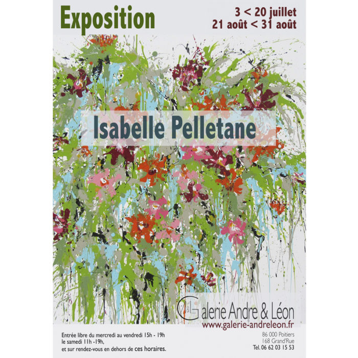 "Exhibition, ""Isabelle Pelletane"" 2019 – POITIERS (FR)"