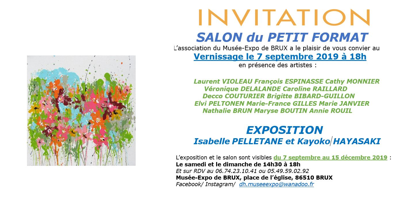 invitation vernissage Brux, pelletane, 2019