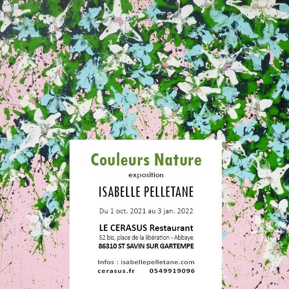 """Exhibition solo, """"Couleurs nature"""" 2021 -Le Cérasus – ST SAVIN (FR)"""